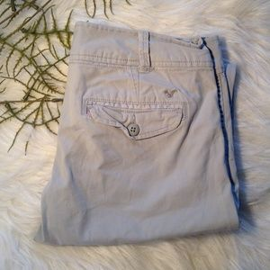 American Eagle Outfitters Khaki Capris Size 2